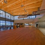 Junckers Jatoba Wide Plank, installed at Airport, Commercial Prefinished Solid Hardwood