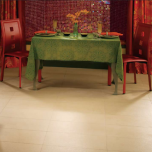 """Photo features P'Zazz in Gold Glam 12"""" x 24"""" on floor. Wall features Egyptian Glass in Rosetta 1"""" x 1"""" mosaics"""