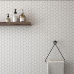 Hexagonal Mosaic Room Scene