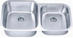 Undermount Large & Small Bowl Stainless Steel Kitchen Sink
