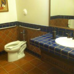 Common Bathroom in Del Rey Square senior Housing, located at Culver City
