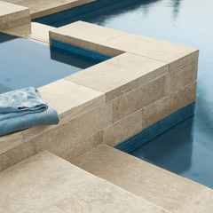 Limestone installed by Pool
