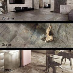 San Savino, Concrete Look Tile & Mosaics Room Scenes