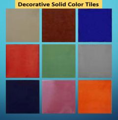 Solid Color Decorative Tiles