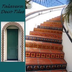 Talavera Deco Tiles, Hand Crafted Mexican Tiles