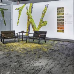 Lichen Collection, Micro Bloom & Macro Bloom Carpet Tile